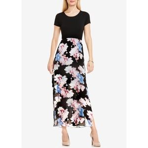 Vince Camuto Floral Print Maxi Dress Size Small